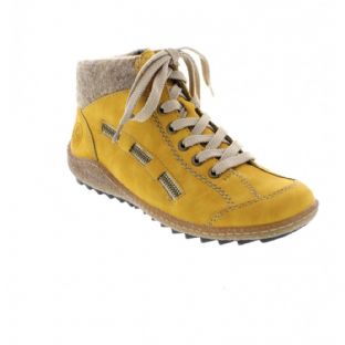 Rieker L7543-69 Yellow Ladies Ankle Boots